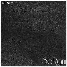 Tissu En Faux Cuir Fausse cuir Rêche Tapisserie Revêtement Sofa Noir 50CM