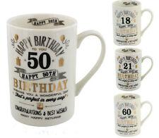 18th, 21st, 30th 40th,50th, 60th,  80th  Vintage Birthday Mug Gift for him