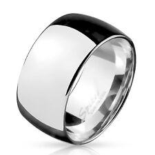 BAGUE LARGE POUR HOMME ACIER INOXYDABLE POLI IDEAL MARIAGE FIANCAILLE NEUVE 5898