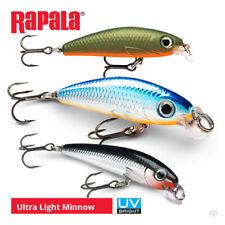 Rapala Ultra Light Minnow Lures - Pike Perch Zander Bass Wrasse Fishing Tackle