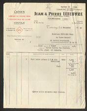 """TOURCOING (59) USINE de COUVRE-PIEDS / LAINES """"Jean & Pierre LEFEBVRE"""" en 1950"""