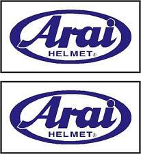 ARAI HELMET Decals 130mm x 64mm x2