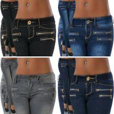 Damen Jeans Hose Hüftjeans Hüfthose Skinny Röhre Röhrenjeans Slim Fit Stretch