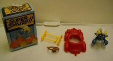 #1386 Vintage Super Smurf with Red Car