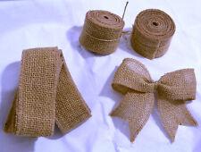 1m de tejidos naturales Rústica De Yute Arpillera Hesse Ribbon Cinta Boda banda de silla Arcos