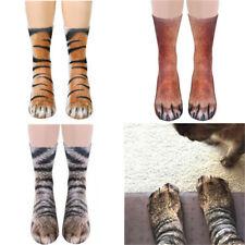 3D Print Animal Socks Unisex Women Adult Kid Paw Crew Funny Cotton Dress Socks
