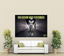 Nike Fútbol Americano Gigante 1 pieza de arte de pared Cartel L119