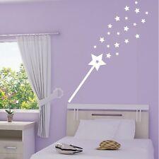 Stickers Mural Baguette Magique Pluie d'étoiles - Choix Taille et Couleur