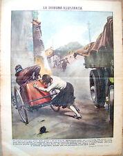 1934 INCIDENTE A FRASSINELLE POLESINE (ROVIGO) TRIBUNA ILLUSTRATA