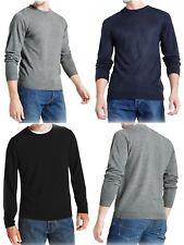 New Mens Ex M&S Crew Neck Jumper Cashmilon Long Sleeve Pullover Sweater Sz S-XXL