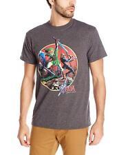 Adult Charcoal Video Game The Legend of Zelda Link Sword Fight T-Shirt Tee