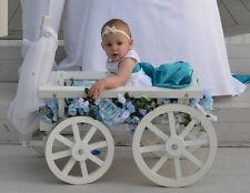 White Flower Girl Pumpkin Wagon- Medium size, Child's Wedding Wagon
