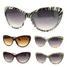 Classic Diva Animal Print Cat Eye Sunglasses for Women