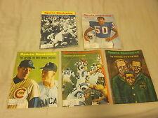 1966 Sports Illustrated Magazines 5 Different EX+