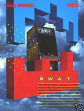 1984 BALLY MIDWAY SEGA SWAT VIDEO FLYER MINT