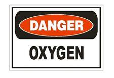 Danger Oxygen Sticker Safety Sign Decal Label D875
