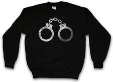 HANDCUFFS SWEATSHIRT PULLOVER SWEATER Criminal Gangster Police Cuffs Gothic