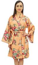 Bimba Femmes Demoiselle D'Honneur Kimono Courte Robe De Nuit Imprimé Floral