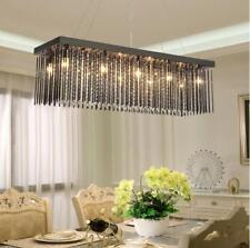 LED Rectangular Crystal Glass Chandelier Ceiling Lamp Fixtures Pendant Light Yc.