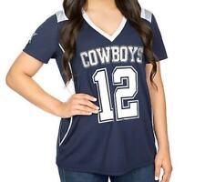 Dallas Cowboys T-Shirt Women's NFL Jersey Rhinestone Shirt Friar DCM Navy