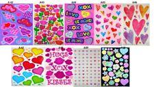 Sandylion Hearts Scrapbook Scrapbooking Maxi Stickers. Rare Retired Designs !!
