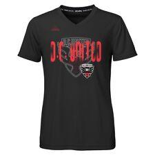 "DC United Adidas MLS Girls Black ""Logo Line Behind"" Climalite T-Shirt"