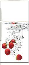 Sticker frigo électroménager déco cuisine Fraise 60x90cm Réf 320