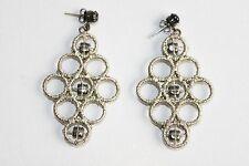 Chandelier Earrings Olympia I Black New Jenny Packham Metallic Woven Crystal