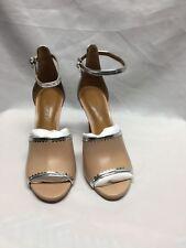 COACH Ankle-Strap Sandals  A01928 Beachwood/ Silver 6.5 NIB