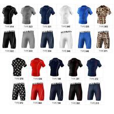 Take Five Mens Skin Tight Compression Base Layer T Shirts Pants Set