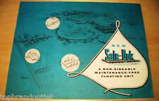 SALE DOK FLOATING UNIT - 50s BROCHURE       RARE  VINTAGE PAPER AD