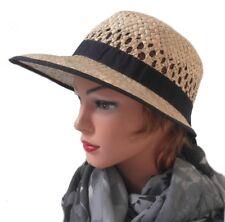 mujer sombrero de paja schute selección color Gorro verano jardín vacaciones