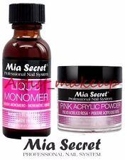Mia Secret Acrylic Nail Powder Pink + Liquid Monomer 1 oz Set - USA