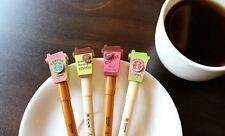 2 PCs Starbucks Pink Green Coffee Gel Pen Set Office Supplies School Stationery