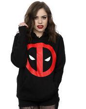 Marvel Women's Deadpool Clean Logo Hoodie