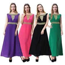 Ladies Sleeveless Long dresses Summer Maxi dress Muslim Abaya Kaftan Jilbab New