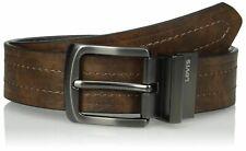 New Levi's Men's 38MM Classic Reversible Brown Black Leather Belt / 11LV2223