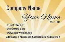 Orange Sunrise Personalised Business Cards