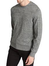 """Da Uomo """"EX M&S"""" Misto Cotone Grigio Maglione Top Smart Casual Wear"""