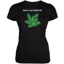 Dairy is My Kryptonite Black Juniors Soft T-Shirt