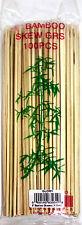 Bamboo Skewers Wood Sticks BBQ Shish Kabob Fondue Grill 100PCS/PK
