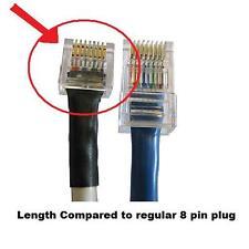 RJ45 CAT5 Modular Plug Ethernet Gold Plated Network Connector Tip Internet
