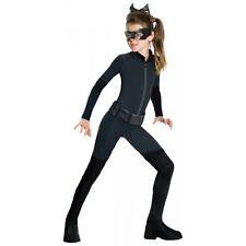 Catwoman Costume Kids Superhero Cat Woman Halloween Fancy Dress