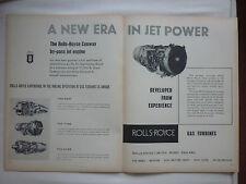 1959 PUB ROLLS-ROYCE CONWAY BY-PASS JET ENGINES GAS TURBINE DART AVON TYNE AD