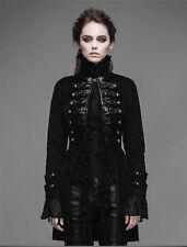 Devil Fashion Women Jacket Coat Black Velvet Goth Steampunk Aristocrat Military