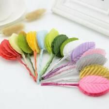 30pcs Mini Nylon Silk Leaf-shaped Leaves Artificial Flower Wedding  DIY Decor