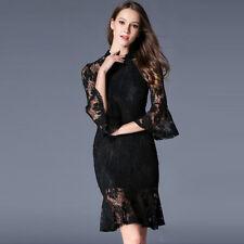 867ba914eb2a Elegante vestito abito lungo nero colorato scollato spacco scollo slim 3867  Dames  kleding