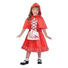 NUEVO Infantil Chicas Libro Semana Caperucita roja lobo Capa Disfraz Con Capucha