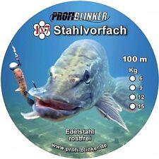 PROFI BLINKER 1x7 10m Stahlvorfach Edelstahl 6, 9, 12, 15 Kg GERMANY