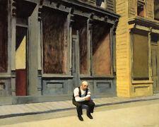 Sunday Man sitting on Sidewalk by Edward Hopper Art Repro FREE S/H in USA